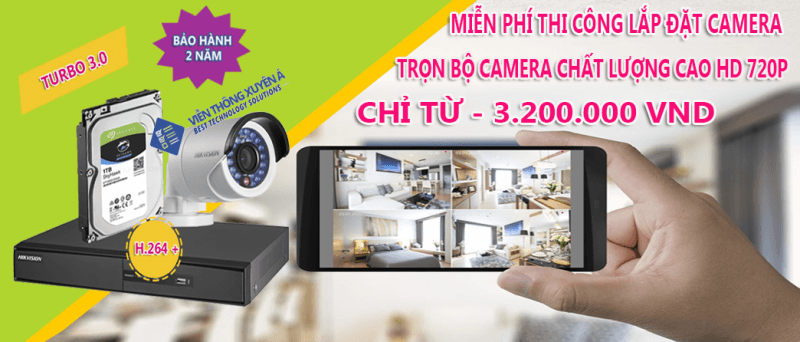 lắp camera hikvision 2 cam 1mp